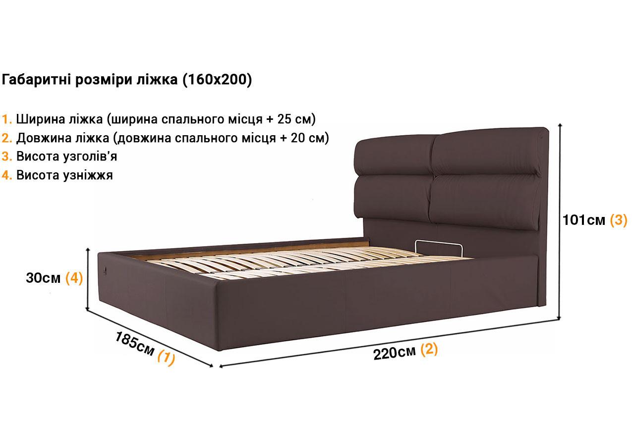 Мягкая кровать Оксфорд недорого