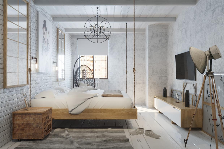 Как правильно оформить спальню в стиле лофт