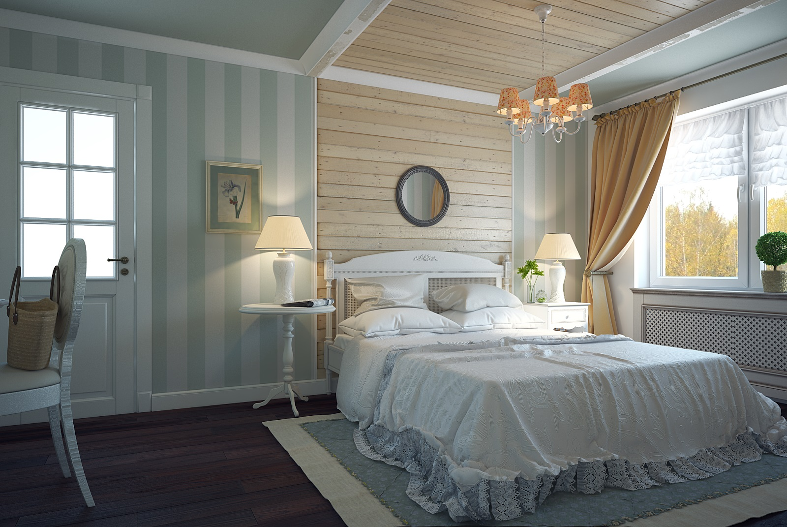 Особенности и преимущества оформления спальни в стиле прованс