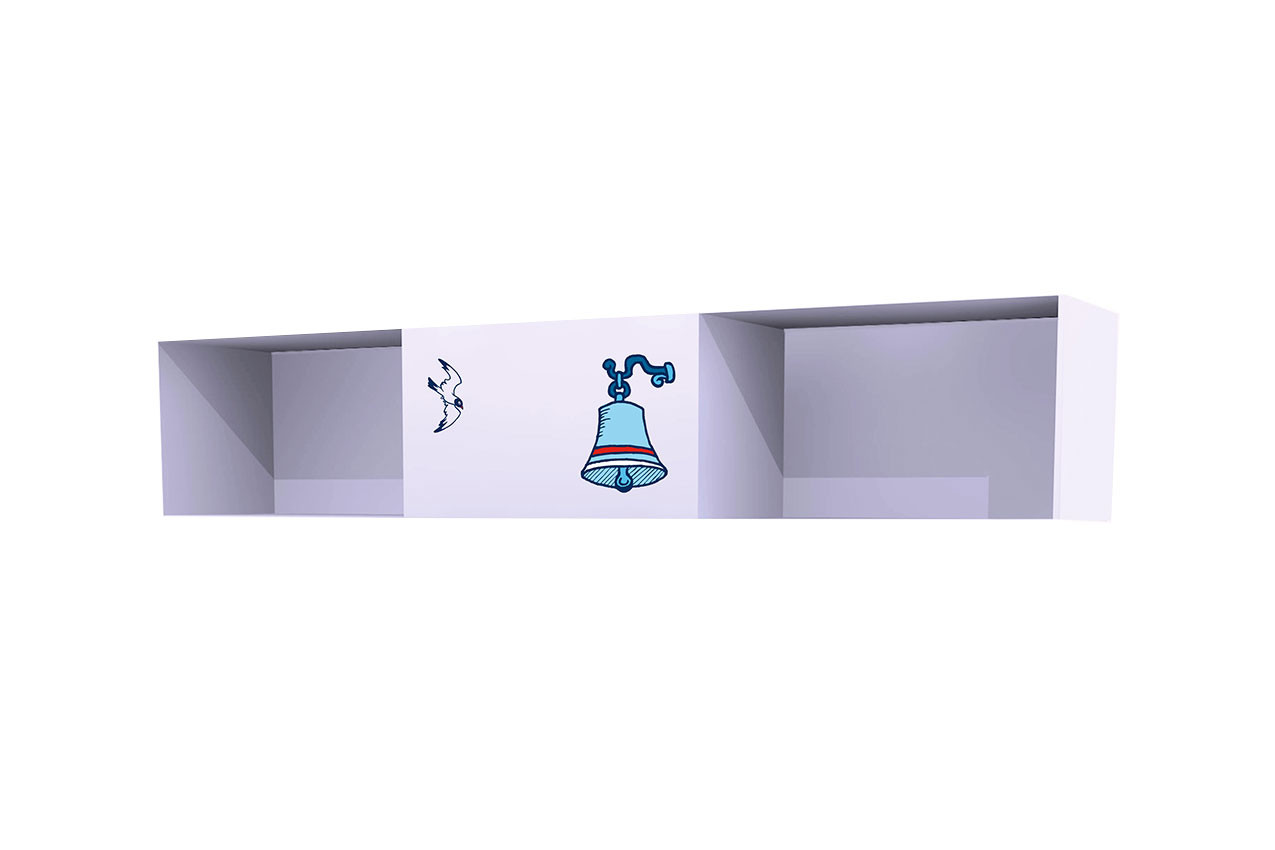 Полка Корабль (3 секции с 1 дверкой)