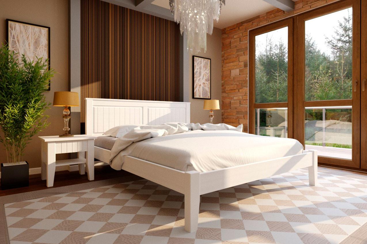 Деревянная кровать Майя с низким изножьем