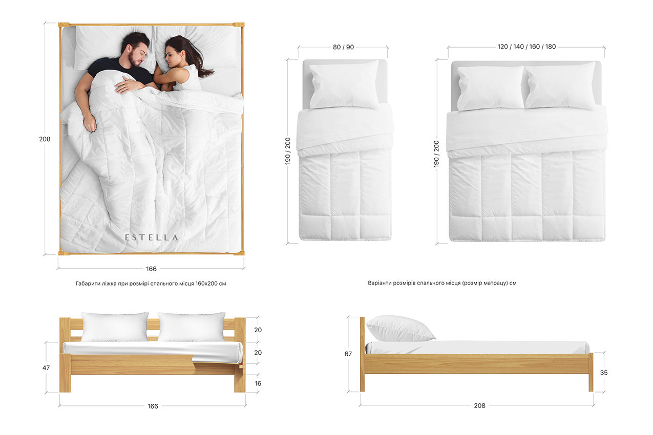 Деревянная кровать Рената фото