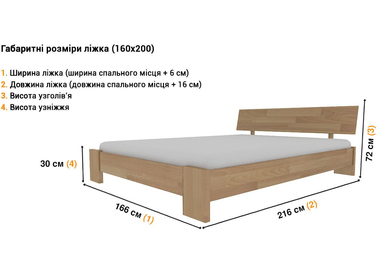 Деревянная кровать Титан недорого
