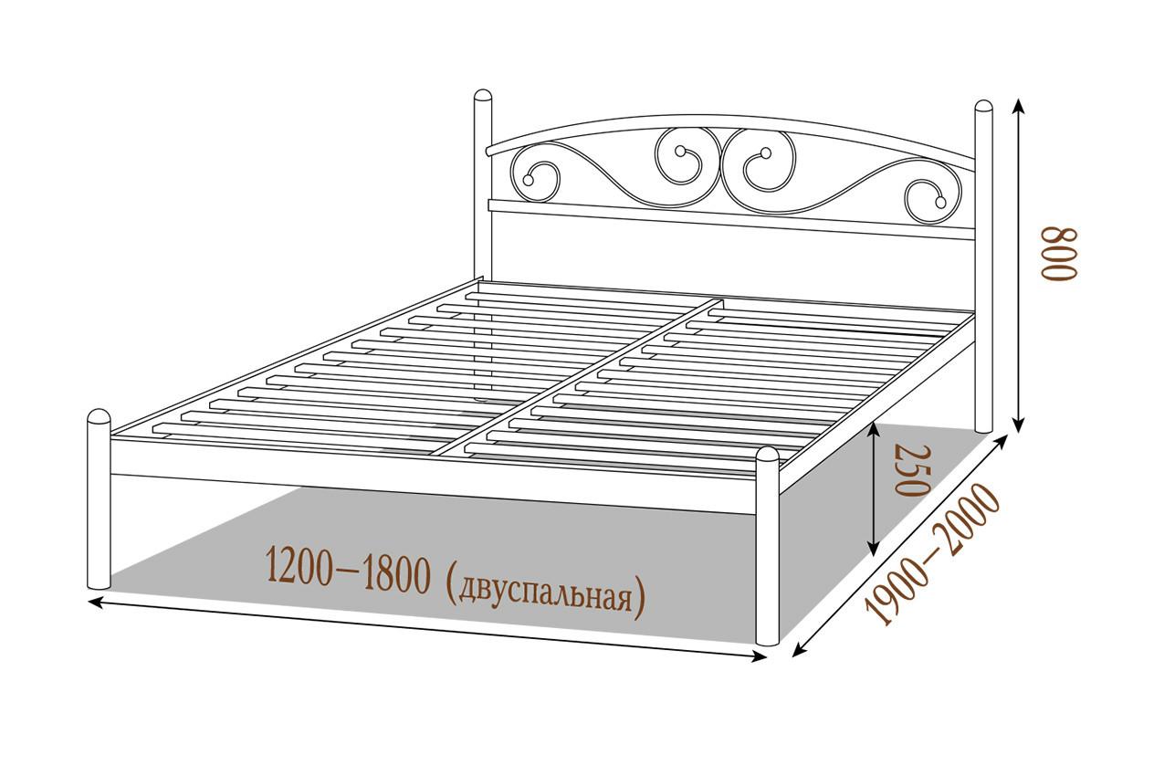 Металлическая кровать Вероника купить
