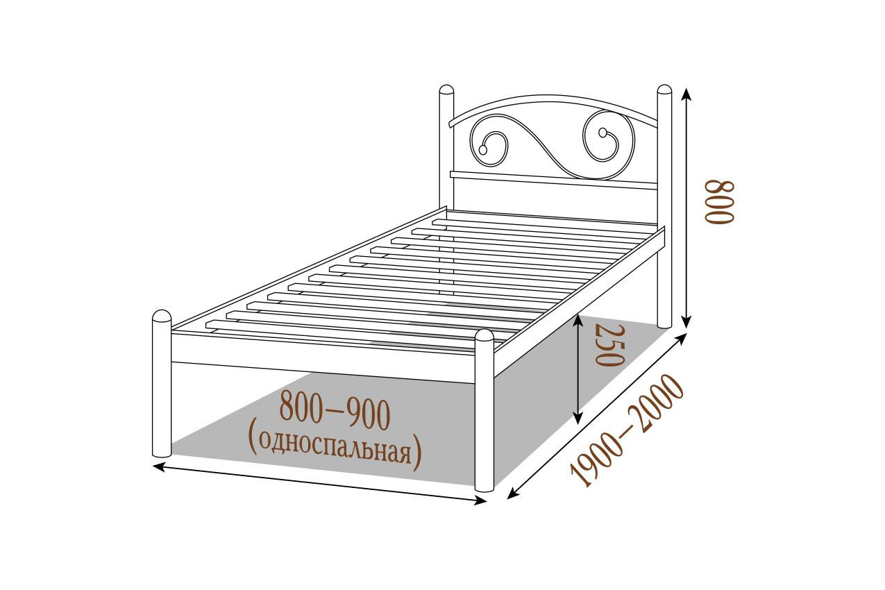 Металлическая кровать Вероника недорого