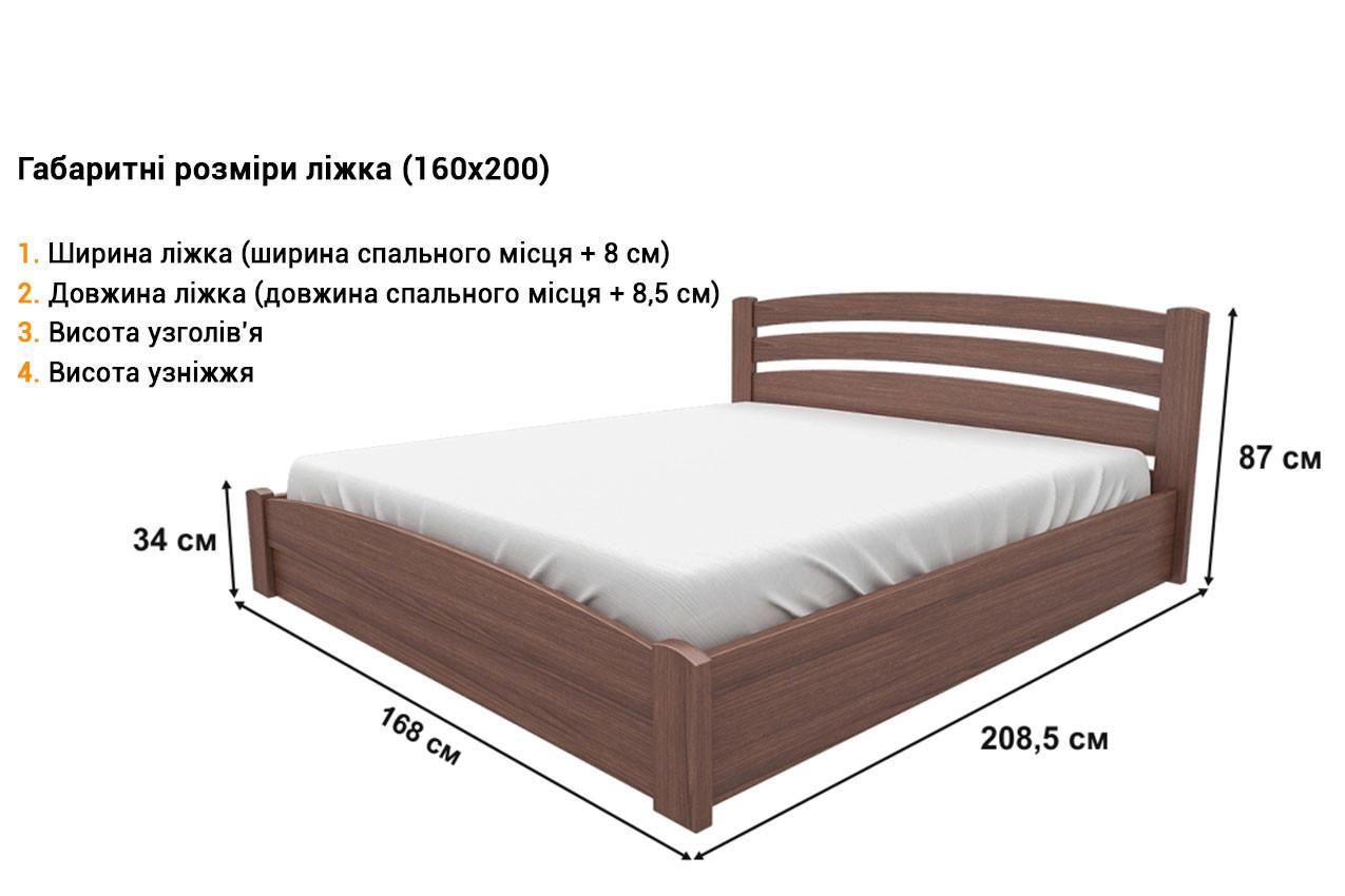 Деревянная кровать Мерлинда недорого