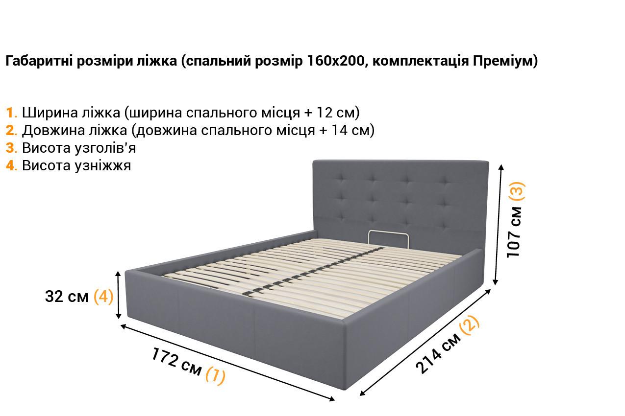 Мягкая кровать Зелла в интернет-магазине