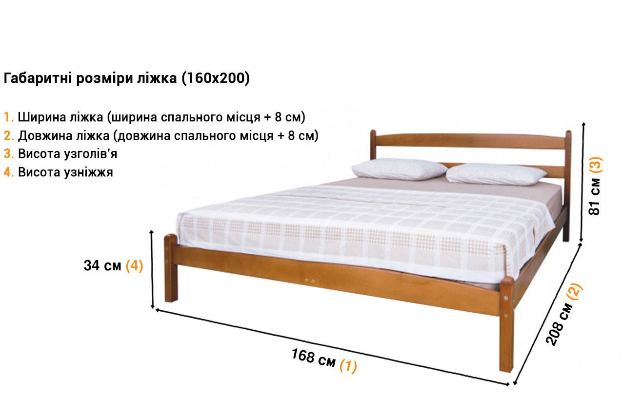 Деревянная кровать Лика без изножья недорого