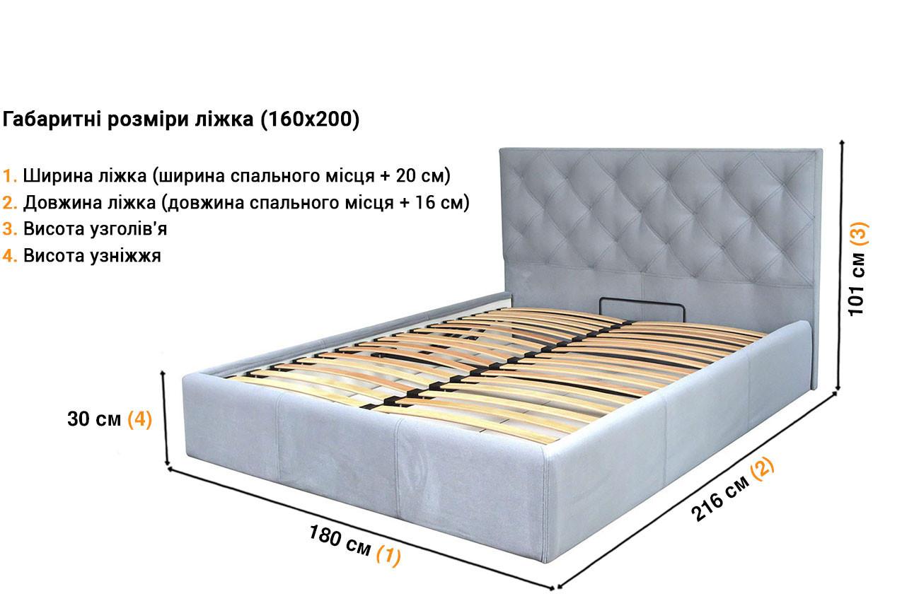Мягкая кровать Бристоль недорого