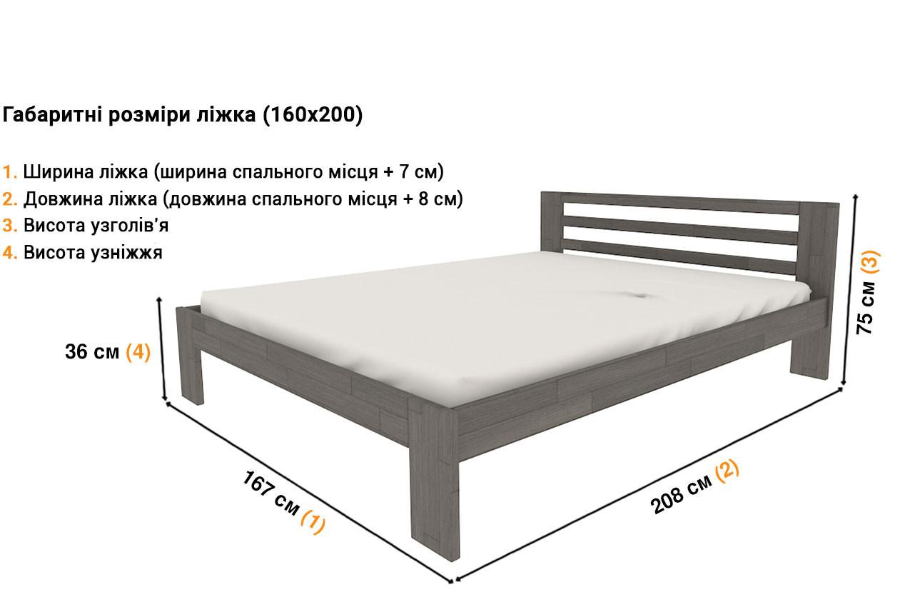 Деревянная кровать Глория (ЛК-10) недорого