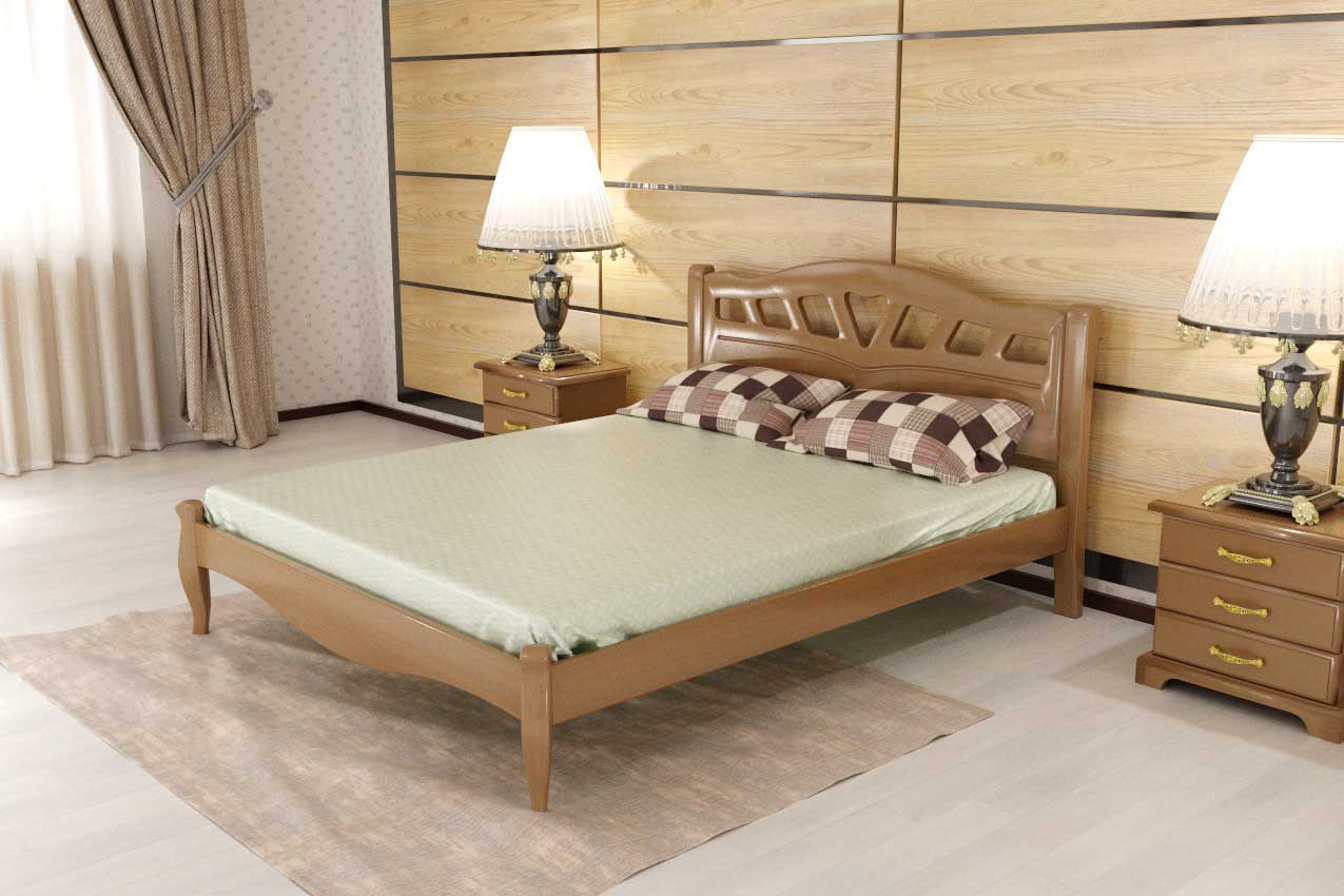 Дубовая кровать Комфорт 5