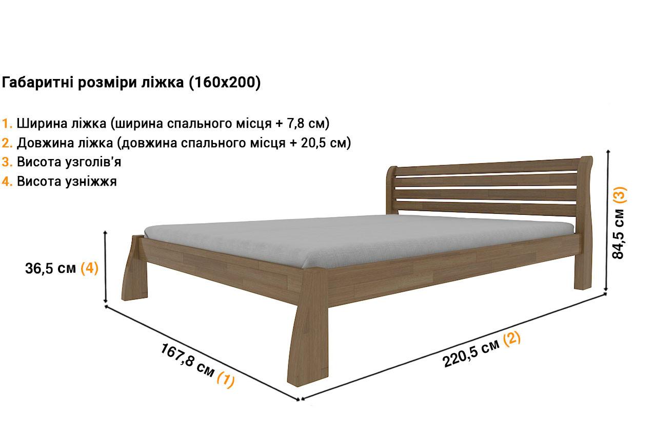Деревянная кровать Белония в Україні