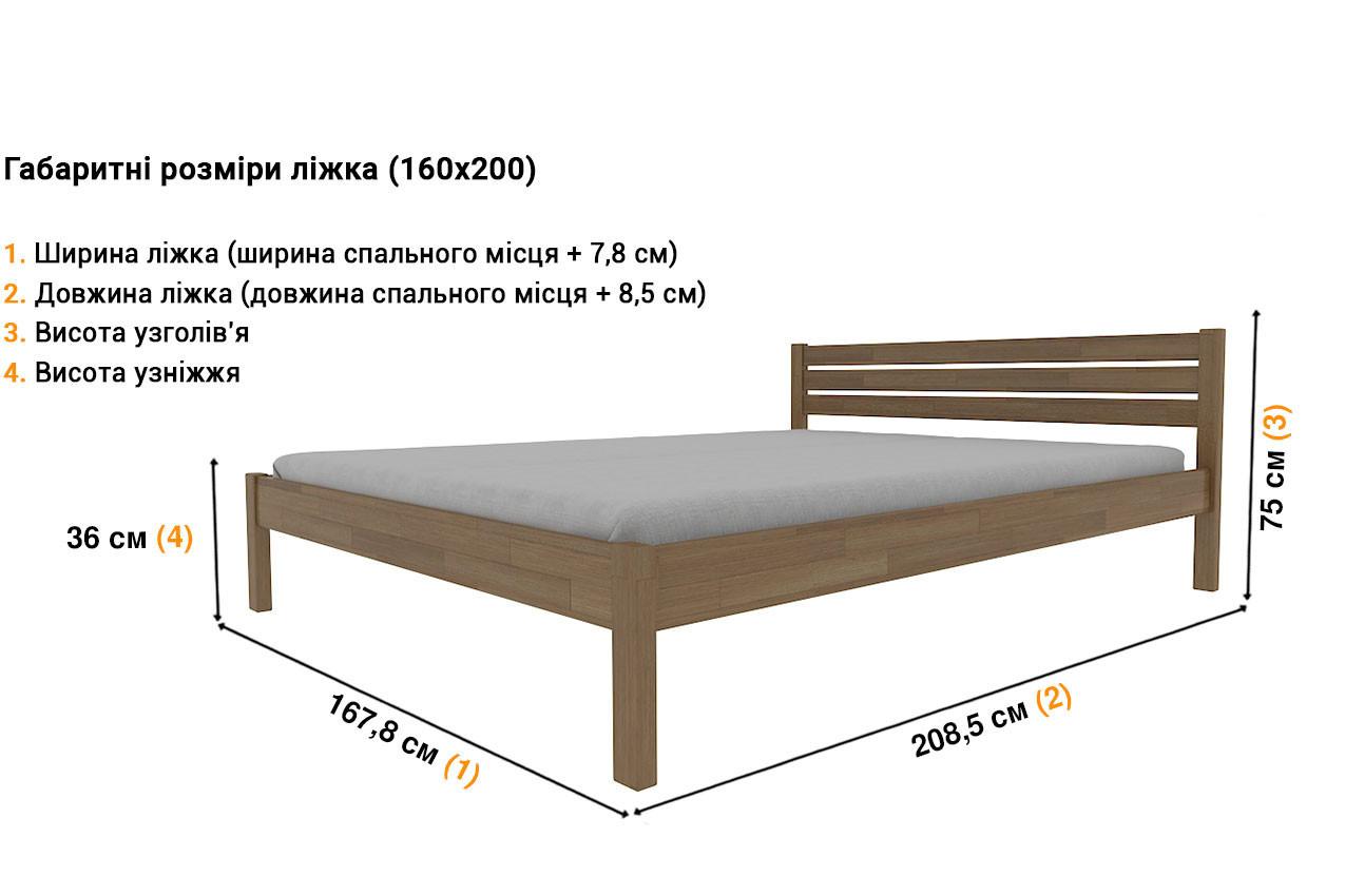 Деревянная кровать Корника в Украине