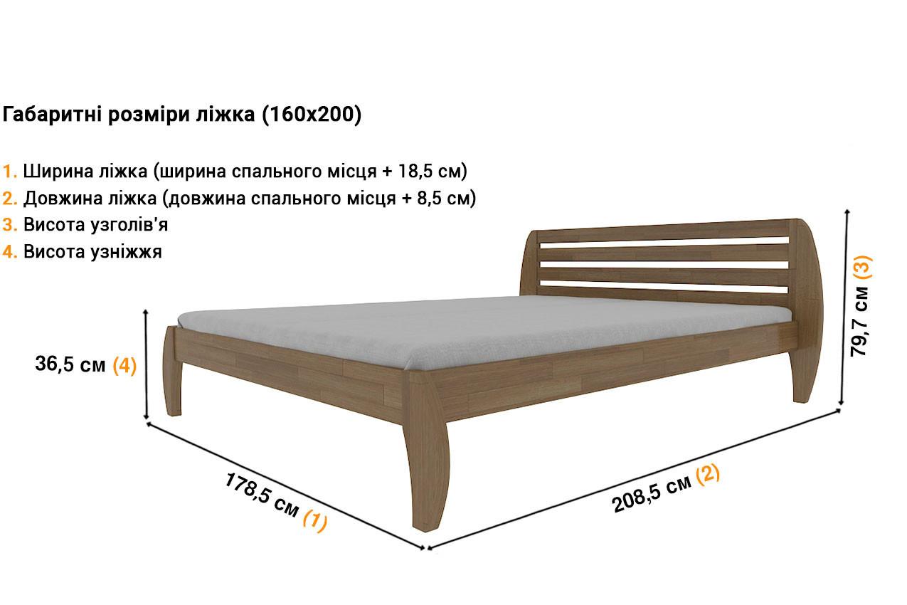 Деревянная кровать Ладина в Украине