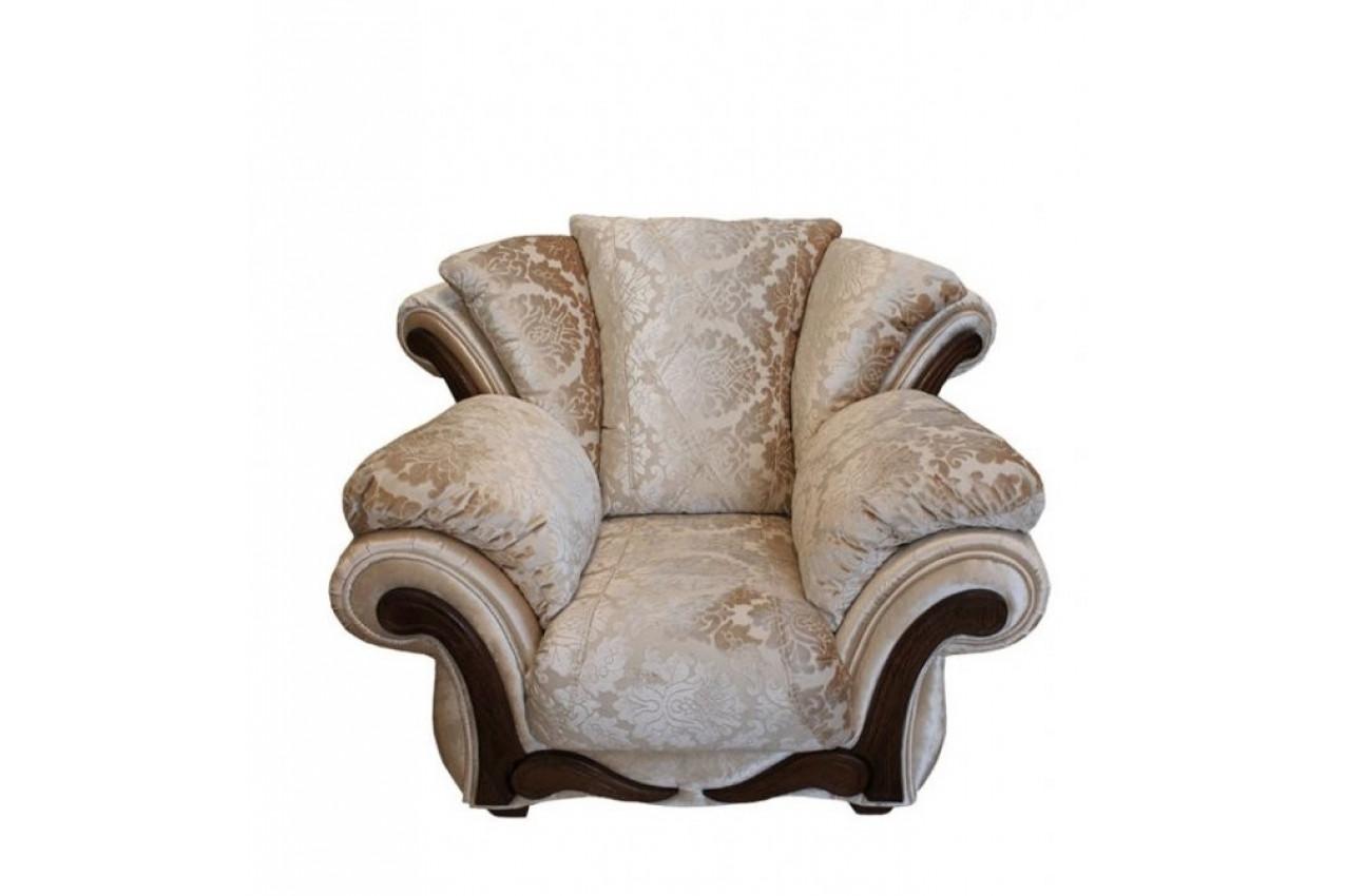 Кресло Амелия с деревянным декором