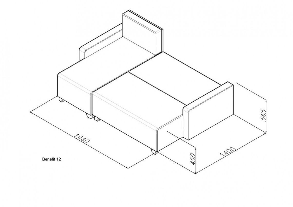 Угловой диван Benefit 12 в інтернет-магазині