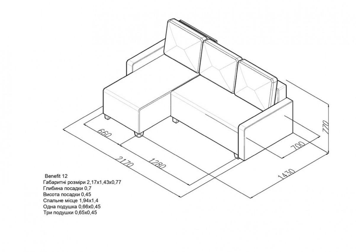 Угловой диван Benefit 12 фото