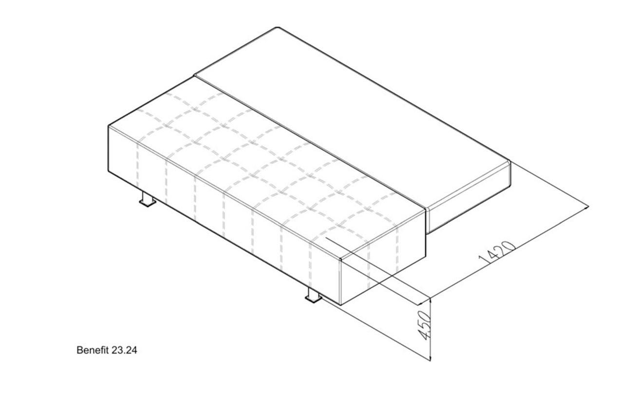 Прямой диван Benefit 23 в интернет-магазине