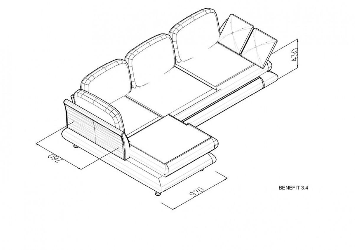 Угловой диван Benefit 3 фото