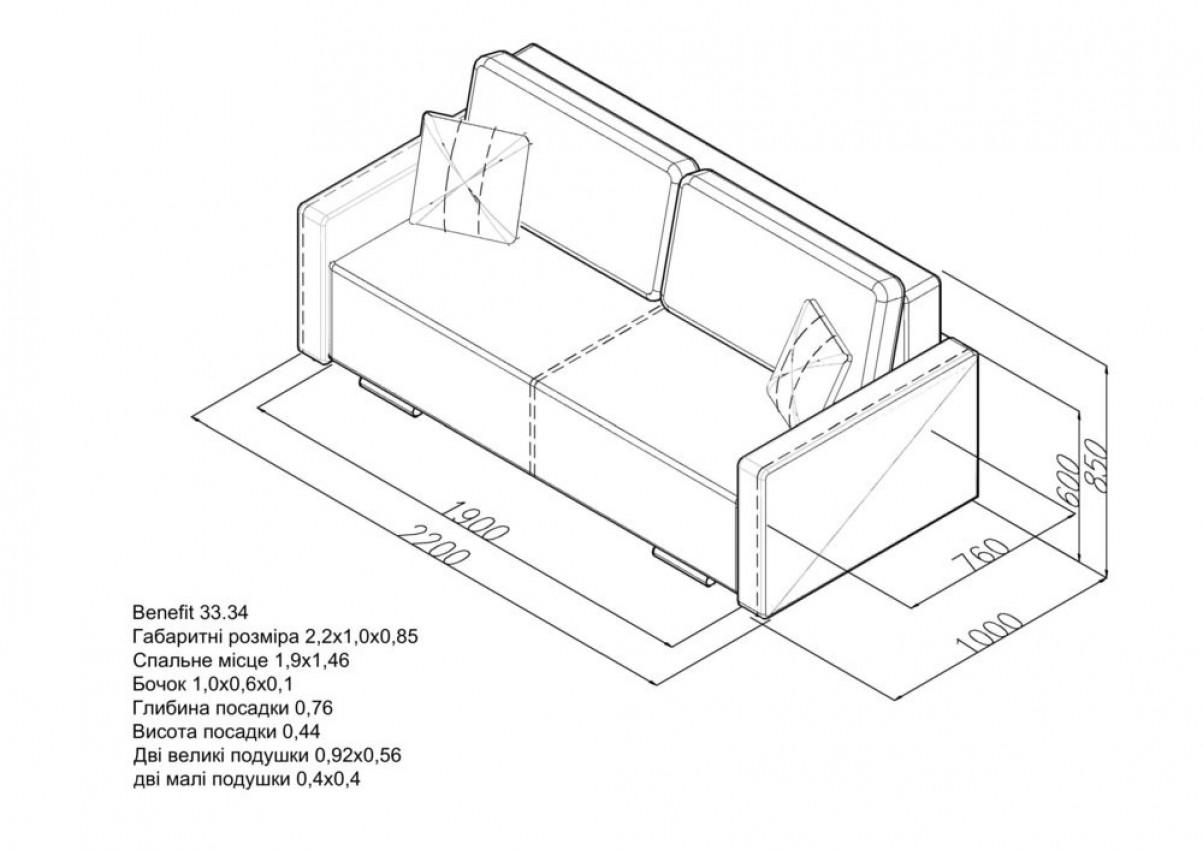 Прямой диван Benefit 33 фото