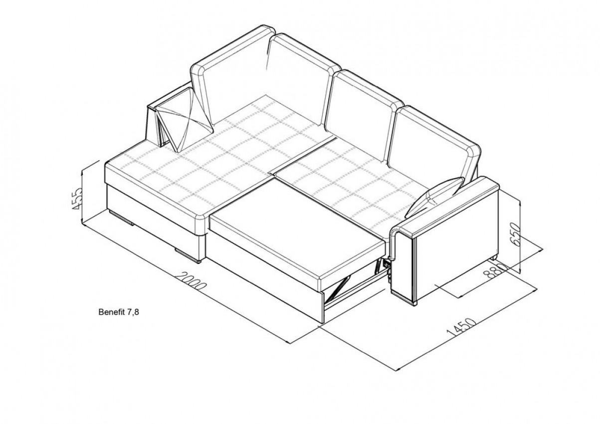 Угловой диван Benefit 7 фото